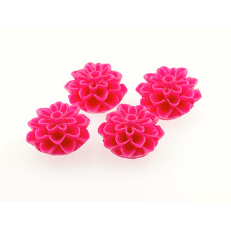 4 Cabochon pink 15 mm Blume
